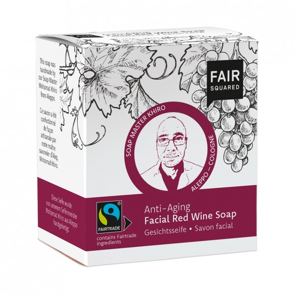 FAIR SQUARED Facial Soap Red Wine - Antia-Aging